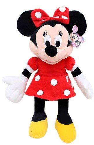 Disney Plush Classic Minnie Mouse Red Polka Dot Dress 15