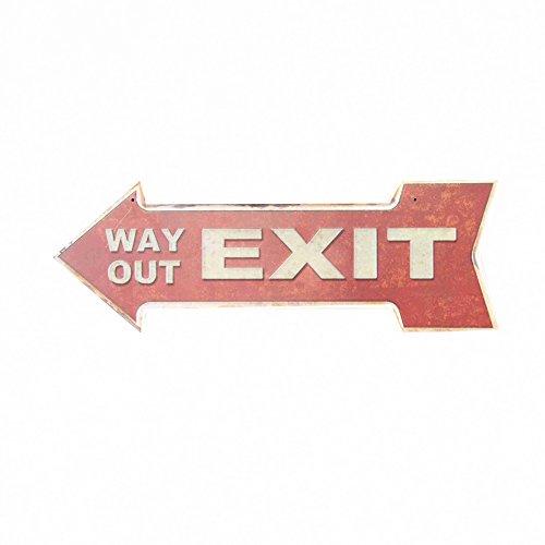 Ochoice Street Signs Arrow Retro Exit Tin Sign for Bar
