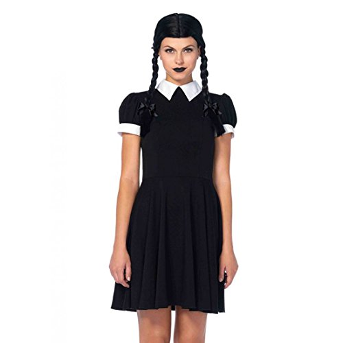 Creepy Halloween Costumes 2016 (Leg Avenue Women's Gothic Darling Costume, Black/White, Small/Medium)