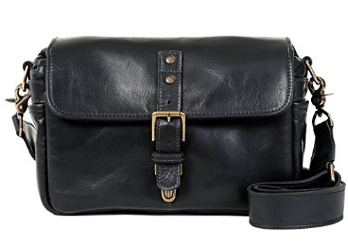 ONA - The Bowery - Camera Messenger Bag - Black Leather (ONA5-014LBL)