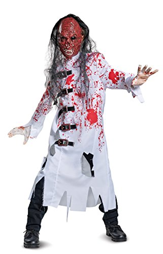 Demented Doctor Halloween Costumes - Demented Doctor Costume, Black/Red/White,