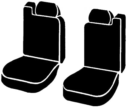 Fia SL68-15 GRAY Custom Fit Front Seat Cover Bucket Seats Leatherette Black w//Gray Center Panel
