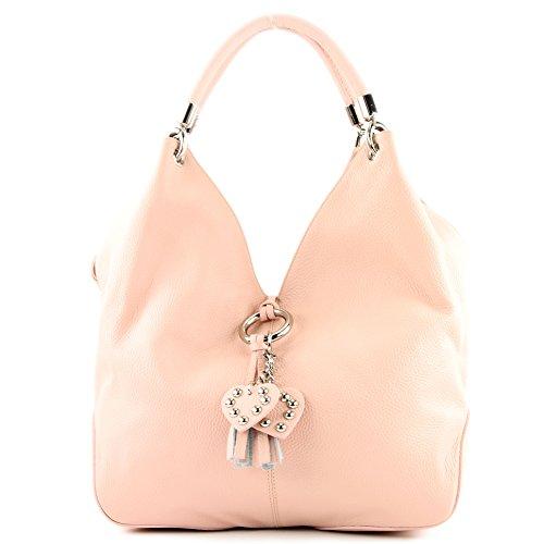 Made Italy - Bolso al hombro de cuero para mujer rosa - rosa