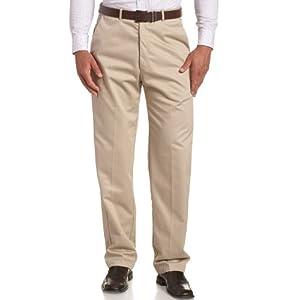 Haggar Men's Work To Weekend Hidden Expandable Waist No Iron Plain Front Pant 23