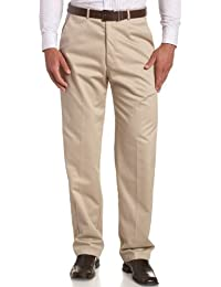 Men's Work To Weekend Hidden Expandable Waist No Iron Plain Front Pant