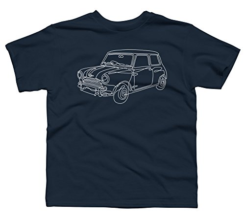 Mini Boy's Medium Navy Youth Graphic T Shirt - Design By Humans (T-shirt Youth Cooper)