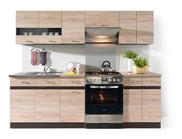 Junona Cucina componibile, 240 cm, colore rovere Sonoma: Amazon.it ...