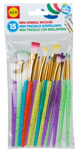 ALEX Toys Artist Studio 15 Mini Sparkle Brushes