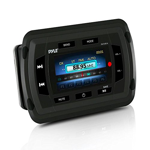 Pyle PATVR14 Marine Bluetooth Audio/Video Receiver – Water Resistant A/V Stereo Headunit, Color LCD Display, USB Reader