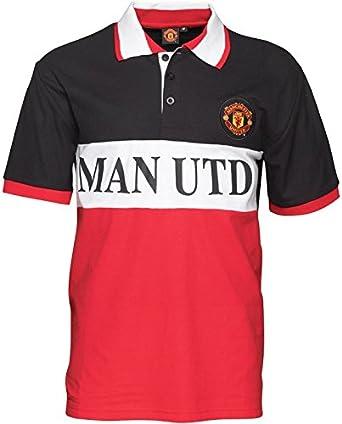 Panel Polo para hombre del Manchester United rojo/negro/de color ...