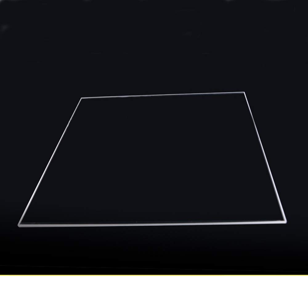400mm x 400mm x 5mm Borosilicate Glass Build Plate for 3D Printer Glass Bed (400 x 400 x 5mm Square) by Express Shipping