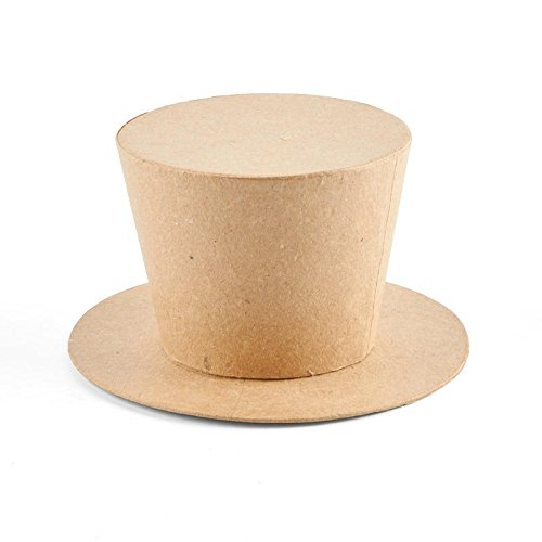 Factory Direct Craft Unfinished Paper Mache Top Hat Boxes for Crafting - 4 Boxes -