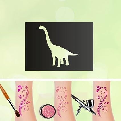 Plantilla para tatuaje V3 con diseño de dinosaurio, autoadhesiva ...
