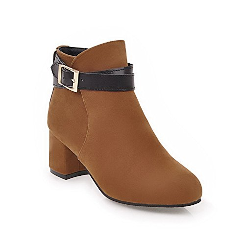 Top Yellow Urethane Womens Closure Boots Heel Closed Toe 1TO9 MNS02407 Resistant Not Warm Kitten No Water Low Boots Lining Rubber Toggle aRT4wnxq