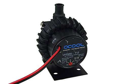 Alphacool VPP655-T12 Variable Speed D5 Pump with 1/2'' (13mm) Barbs - Selectable Speeds of 1800, 2550, 3300, 4050, and 4800 RPM)