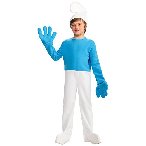[The Smurfs Movie Deluxe Child's Costume, Smurf Costume-Small] (Smurf Costumes Accessories)