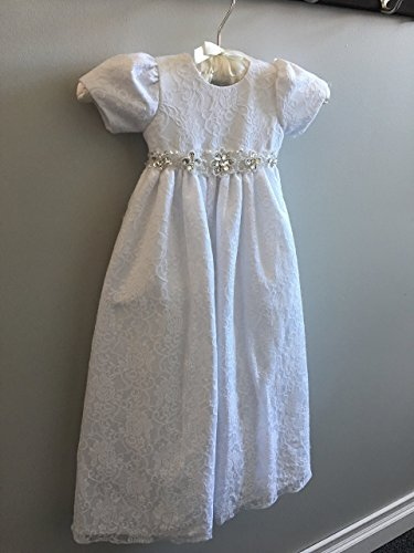 Designer Lace Baby Christening Dress Gown by Laelee Designs