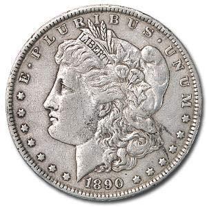 1890 Morgan Silver Dollar F/VF