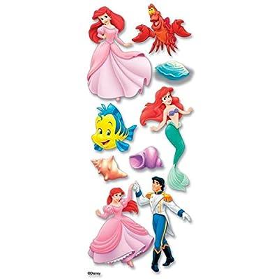 Disney Little Mermaid Dimensional Sticker: Arts, Crafts & Sewing