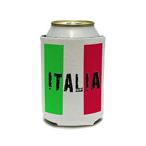 Italia - Italy Italian Flag Can Cooler - Drink Insulator - Beverage Insulated Holder