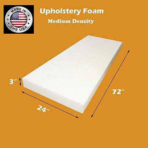 FoamTouch Upholstery Foam Cushion Medium Density, 3