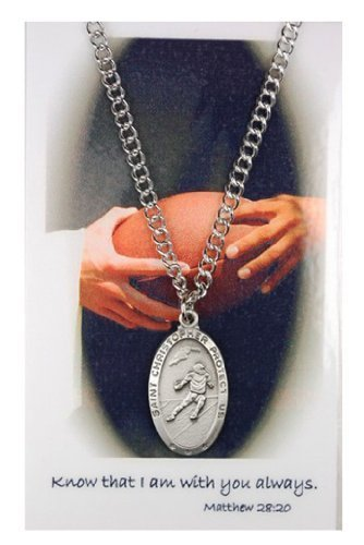 Boys St. Christopher Football Medal with Prayer ()