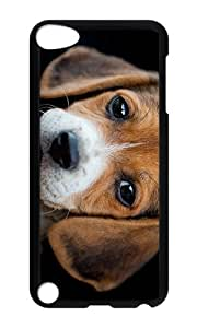 iPod 5 Case,VUTTOO Cover With Photo: Beagle Puppy For iPod Touch 5 - PC Black Hard Case
