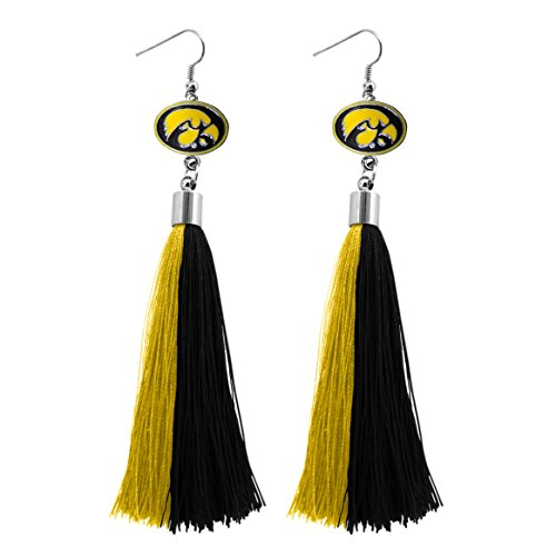 NCAA Iowa Hawkeyes Tassel Earrings ()