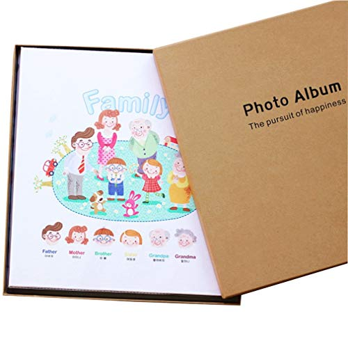 ZYANZ Photo Album- PU Interstitial Album, 1000 Pockets Can Hold 6x4 Photos, Baby Growth Album (Color : C, Size : 33.5x36.5x6.5cm)