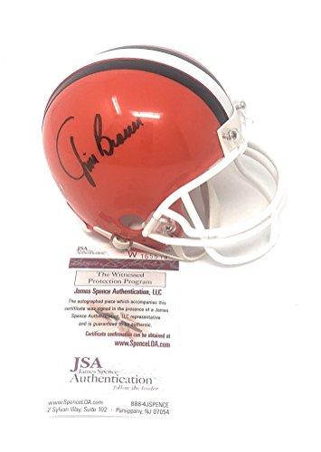 - Jim Brown Cleveland Browns Signed Autograph Mini Helmet JSA Witnessed Certified