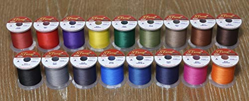 Hitena STWRAP Rod Wrapping Thread - Nylon Winding Thread. Wraps Super Easy. Sits Perfect Flat. Consistent Tension. Less Fuzzy. Most Acclaimed by Professional Builders