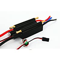 FlyColor 70A 2-6S Lipo Water cooling esc with 5.5V/4A BEC Boat ESC, Programmable Brushless Speed Controller ESC