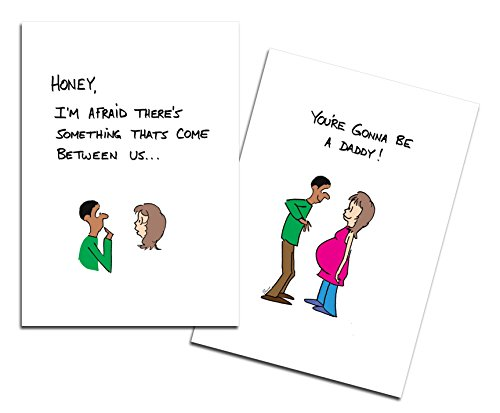 Dad's Castle Pregnancy Announcement - You're Going to be a Daddy Card, Ethnic Mixed Race Couple Ethnic Stationery