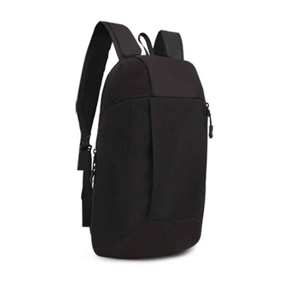 MaxFox Sports Backpack,Men Women Canvas Shoulder Divider Organizer Storage Schoolbags Satchel Bag Handbag for Hiking (Black)
