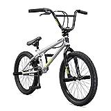 "Mongoose Legion L10 20"" Freestyle BMX Bike, Silver"