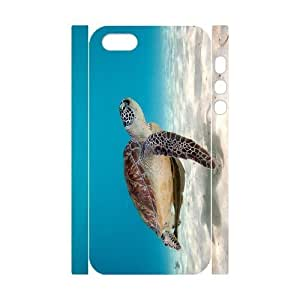 3D Bumper Plastic Customized Case Of Tortoise for iPhone 5,5S
