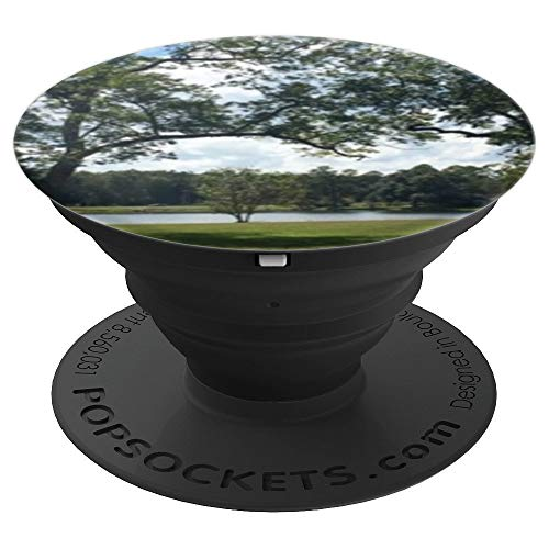Pecan Pedestal (Pecan tree overlooking pond - PopSockets Grip and Stand for Phones and Tablets)