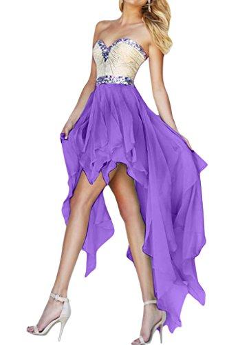 missd ressy Mujer Gasa falte Corazón de recorte aermel los Hi-Lo vestido de cóctel Hell-Lila