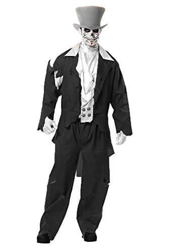 [Ghost Groom Adult Mens Costume (Medium 40-42)] (Dead Groom Costume)