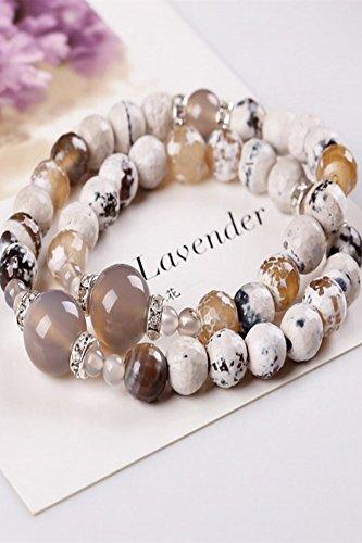 Generic Bohemia Crystal hand chain bracelet bangle wristband natural Brazilian agate beads man boy and women girls lady hand chain bracelet bangle wristband necklace