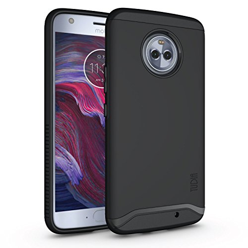 (Moto X4 Case, Slim-Fit Heavy Duty [Merge] Extreme Protection/Rugged but Slim Dual Layer Case for Motorola Moto X4 / Android One Moto X4 (Matte Black))
