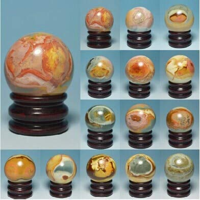 BEESCLOVER 75mm NATURAL Polychrome OCEAN JASPER Sphere Crystal Rock Healing as picture show