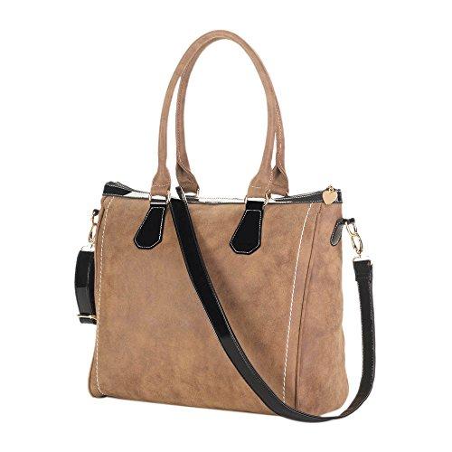 Authentic Discount Handbags (Koehler 10016968 16 inch Essential Brown Tote Handbag)