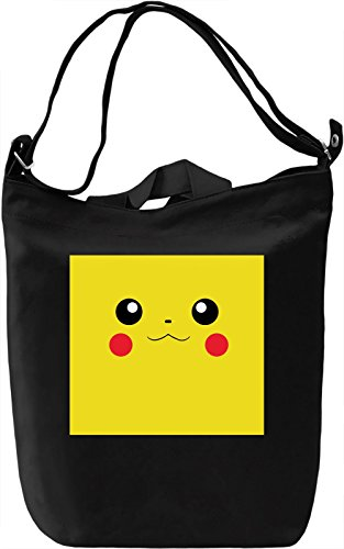 Happy Pika Borsa Giornaliera Canvas Canvas Day Bag| 100% Premium Cotton Canvas| DTG Printing|
