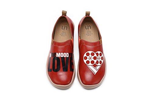 Uin Heren Romance Casual Microfiber Loafer Schoenen Rood