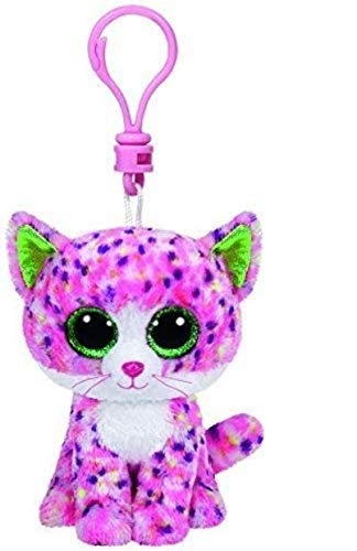Ty Beanie Boos Sophie The Pink Cat Clip 3 Keychain -