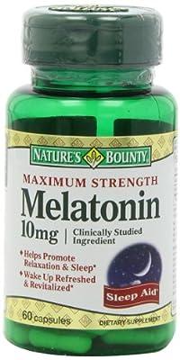Nature's Bounty Maximum Strength Melatonin 10mg Capsules, 60-Count