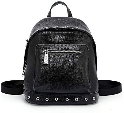 Amazon.com  Climb Backpack Backpack Women s Leather Joker Fashion Casual Bag  College Shoulder Messenger Bag Bag Black 23×15×24CM  Sports   Outdoors 285c94e794a01