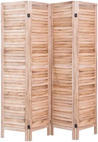 RHF - Panel separador de ambientes, 3 paneles, de madera, plegable, independiente de 1,52 m, con separador de privacidad, panel blanco: Amazon.es: Hogar