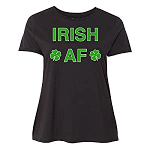 inktastic - Irish AF Green Women's Plus Size T-Shirt 3 (22/24) Black 2eee8